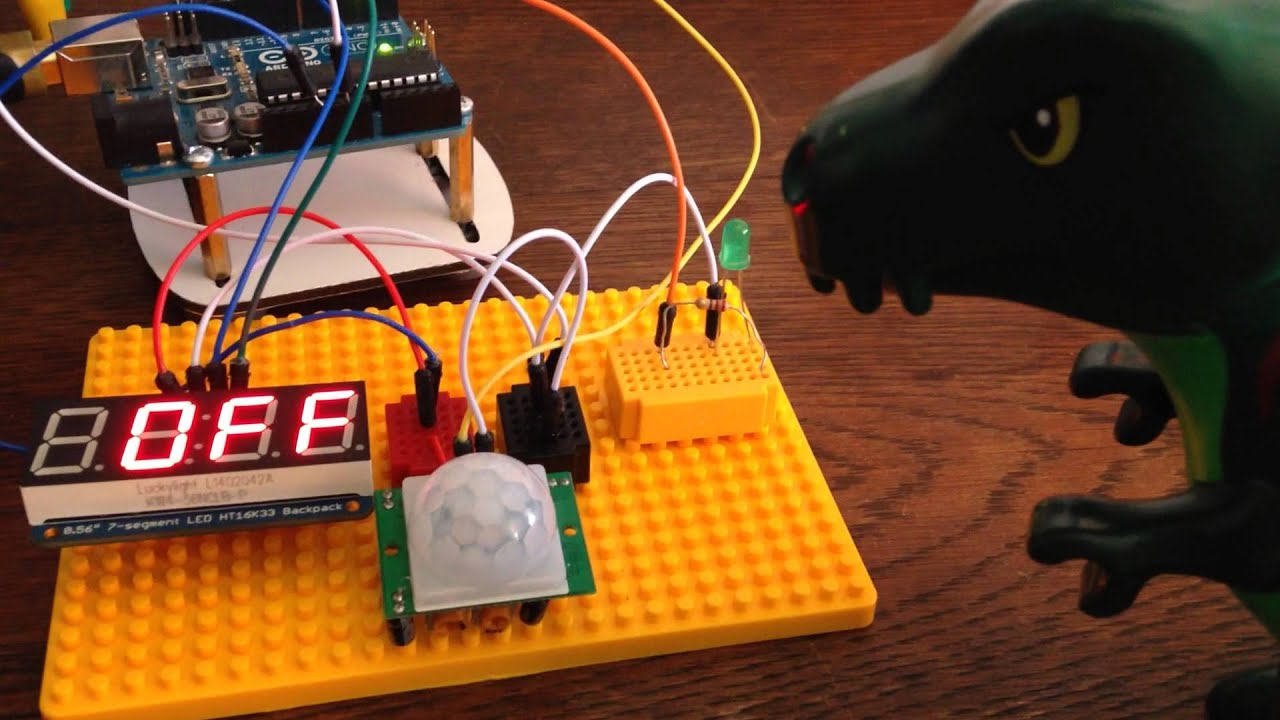 Arduino counter using pir sensor youtube