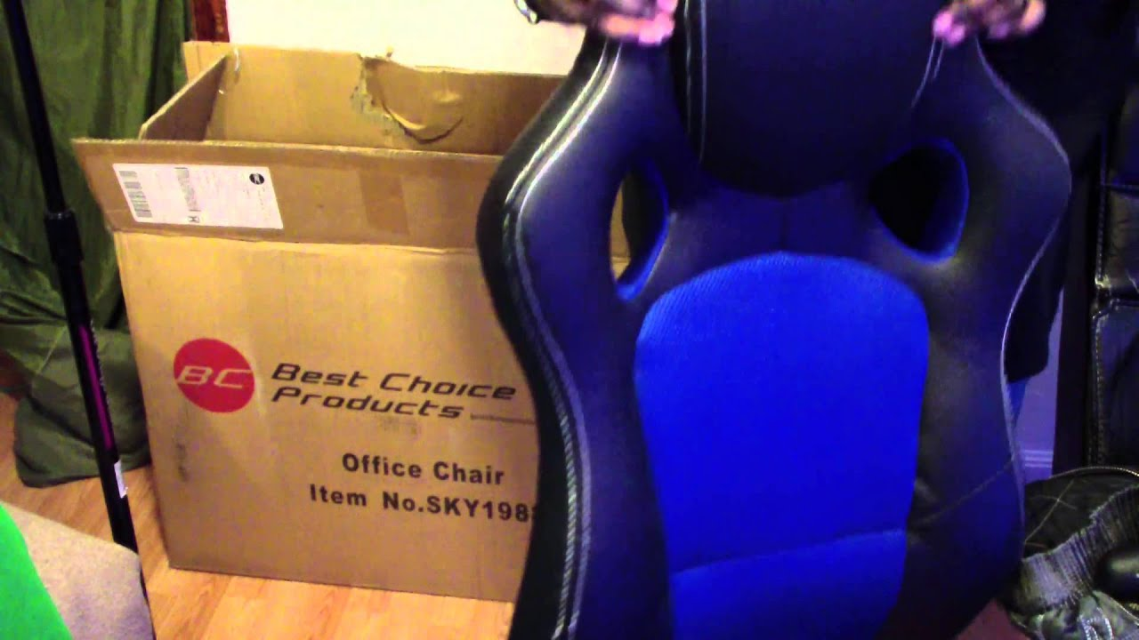 Unboxing BestChoiceProducts Leather High Back Race Car Style