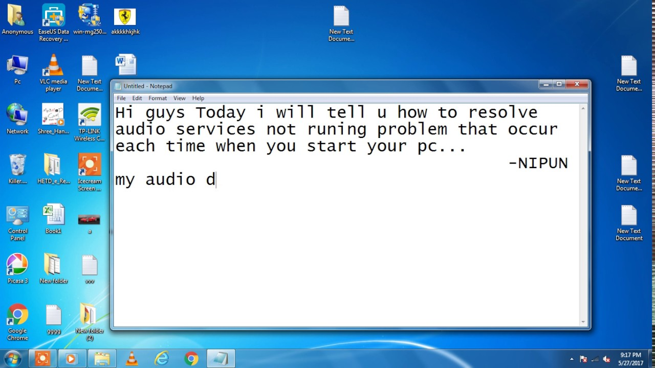 How to resolve audio service not running error with ease