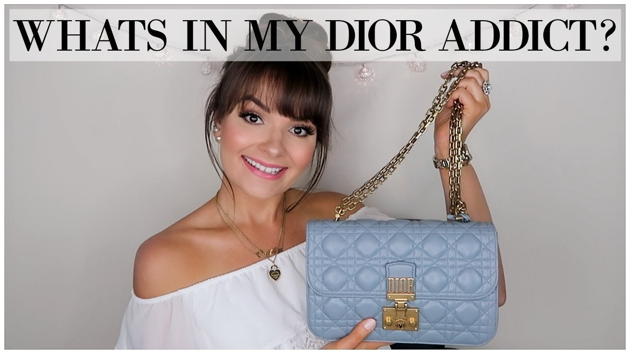 7b747c9d8 WHAT FITS IN MY DIOR ADDICT HANDBAG? || October 2017 ♥ - YouTube
