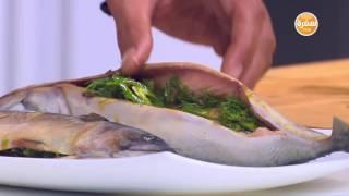صينية سمك مكاريل - سلطة سالمون بالفاصوليا الحمراء | شبكة و صنارة حلقة كاملة