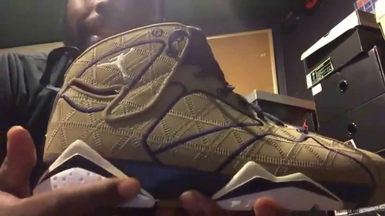 70edb26a2a1 Air Jordan retro 7 J2K Filbert sneaker review - YouTube