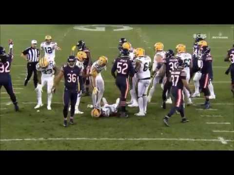 HORRIBLE HIT on DAVANTE ADAMS - Danny Trevathan helmet-helmet hit