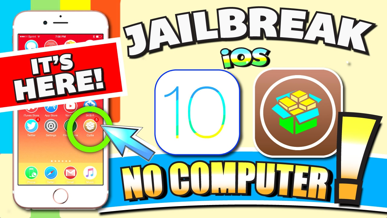 iOS 10 - 10 2 JAILBREAK (NO COMPUTER) on iPhone, iPad, iPod (Jailbreak iOS  10 Without Computer!!!)