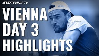 Berrettini Continues London Charge; Monfils, Khachanov Fight Through | Vienna 2019 Highlights Day 3