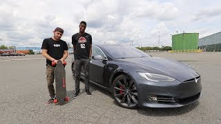 $1,500 Boosted Board vs. $150,000 Tesla - ft. MKBHD!