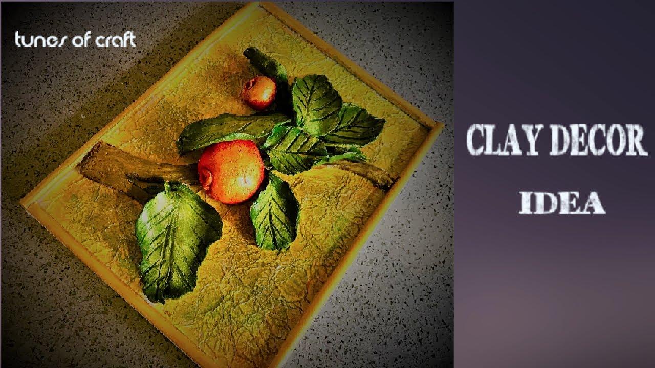Diy Clay Craft Idea Clay Craft Ideas Air Dry Clay Clay Art Projects Wall Decor Youtube