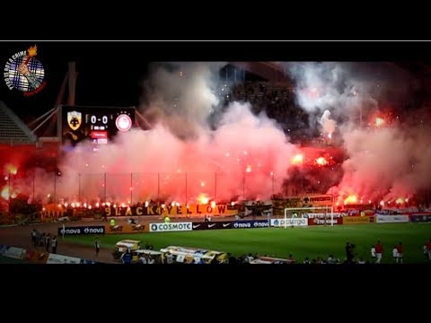 AEK - Olympiakos 24.09.17  // Pyro-Greece