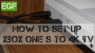How to set up Xbox One S to 4k TV manually. (Xbox 101)