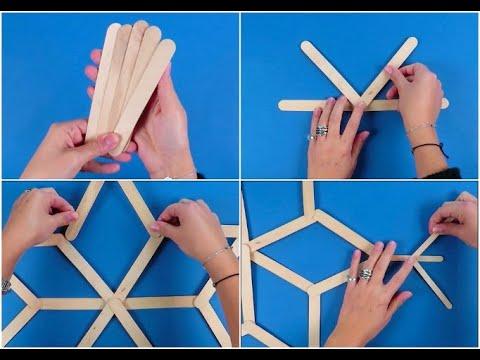 Come fare un fiocco di neve con i bastoncini di legno for Lavoretti con abbassalingua