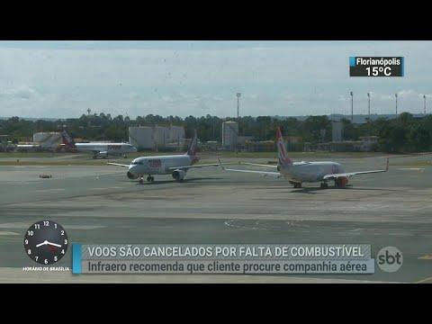 Falta de combustível afeta aeroportos em todo o país | SBT Brasil (24/05/18)