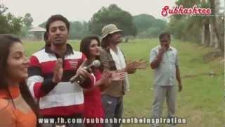 Subhashree Ganguly celebrating birthday with DEV & cast of KHOKA 420