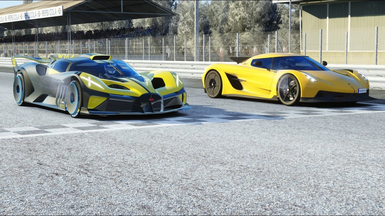 Bugatti Bolide vs Koenigsegg Jesko Absolut at Monza Full Course