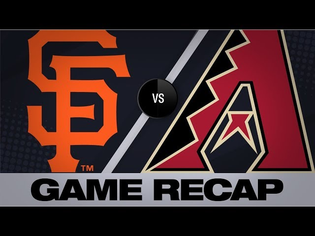 Jones, Kelly lift D-backs to 6-1 win | Giants-D-backs Game Highlights 8/18/19