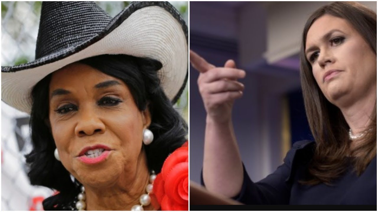 8354c6df2cb Sarah Huckabee Sanders on Dem Frederica Wilson  She s  All Hat and No Cattle