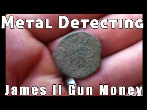 metal detecting frozen land live james II gunmoney ancient silver and more 2017 / 2018
