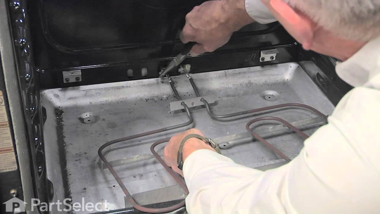 small resolution of range stove oven repair replacing the bake element 3600w whirlpool part w10276482 youtube