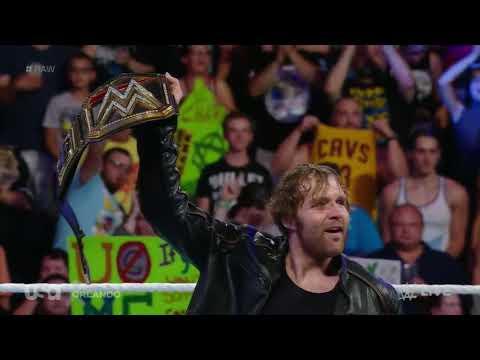 DEAN AMBROSE FIRST ENTRANCE AS(WWE...