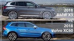 2018 BMW X3 vs 2018 Volvo XC60 (technical comparison)