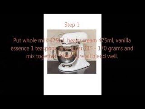 How to prepare an ice cream