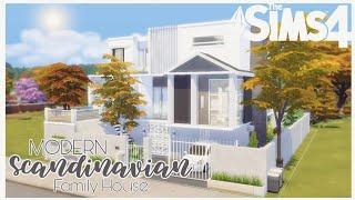 Modern Scandinavian Family House | No CC | Stop Motion Build | The Sims 4