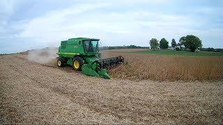 Soybean Harvest 2017 - John Deere 9410 maximizer combine