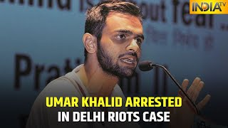 Former JNU Student Umar Khalid Arrested In Delhi Riots Case | IndiaTV News