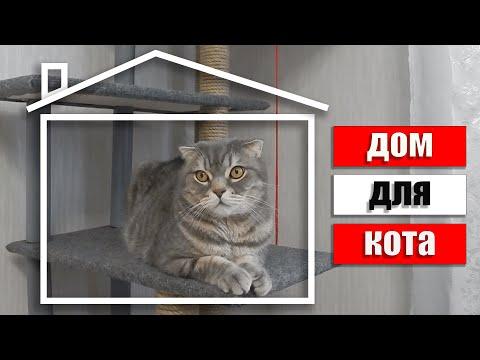 Многоярусные домики для кошек своими руками