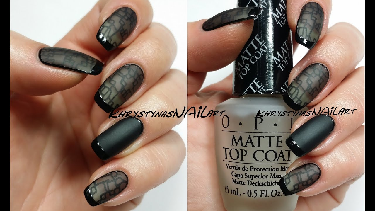 Diy black sheer lace nail art youtube prinsesfo Image collections