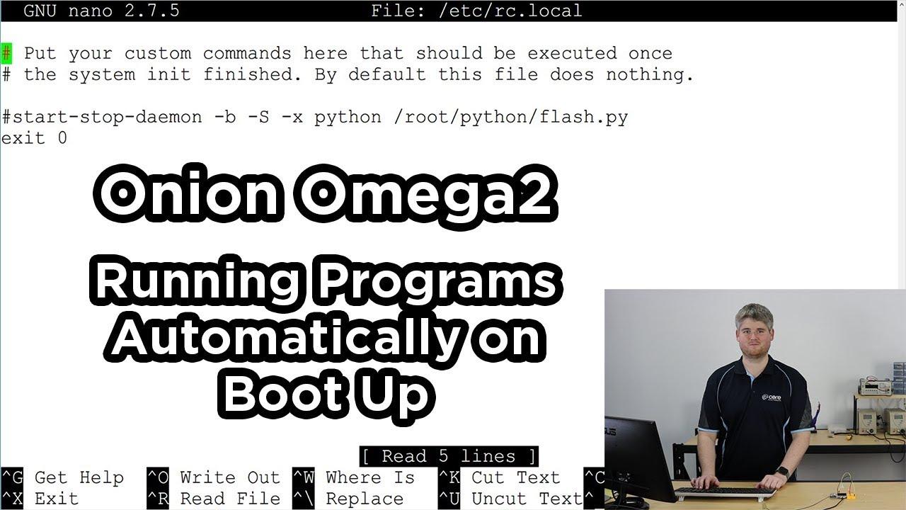 Onion Omega - First Time Setup Using the Command Line