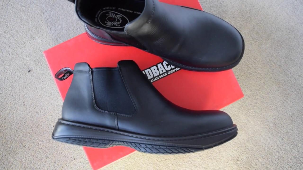 f3f20ade634 Redback Chefs RRBN Retro Black Nappa Leather boots
