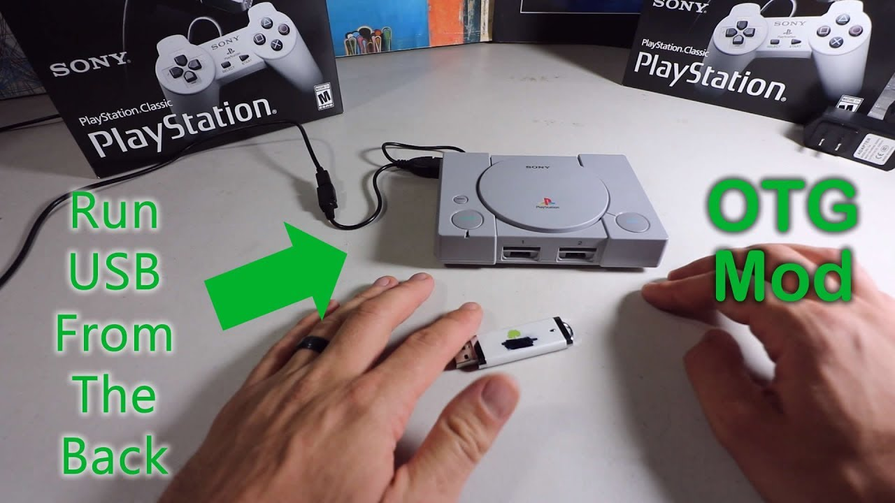 Playstation Classic Otg Usb Hack Simple How To Guide Youtube