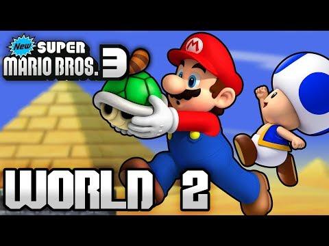 New Super Mario Bros. 3+ Part 2 - World 2 (4 Player)