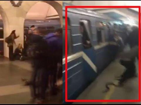 Video shows passengers fleeing after St. Petersburg metro explosion
