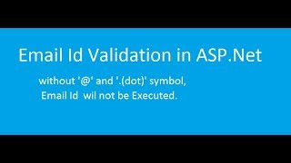 How to do Email Validation in ASP.Net