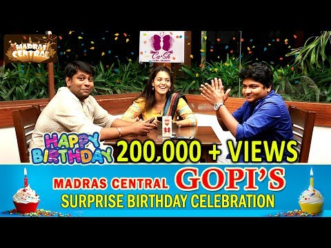 Chat and Celebrate with Madras Central Gopi , Sudhakar and Half Boil Fame Swathishta Krishnan