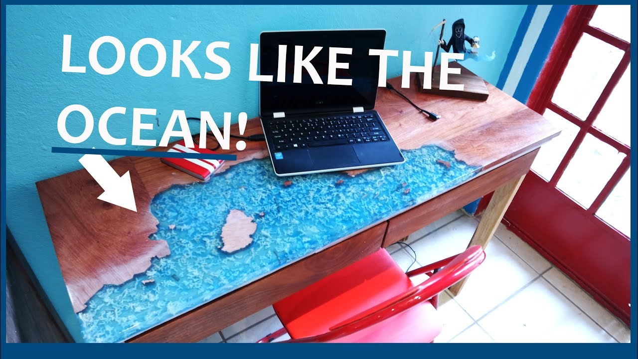 Making A Table That Looks Like The Ocean Epoxy