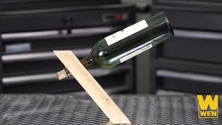 Woodworking Projects: Floating Wine Bottle Holder