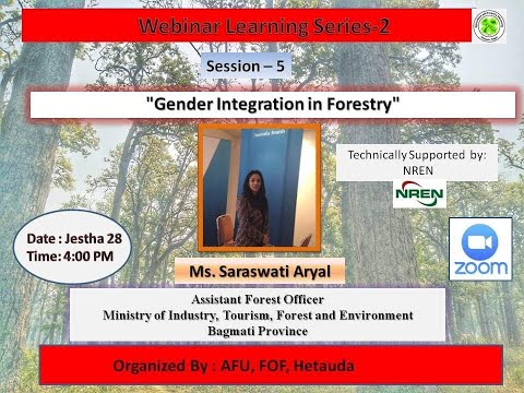Gender Integration In Forestry :Sarasawati Aryal