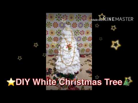 Latest Diy White Christmas Tree | Homemade | Tissue Paper | New Ideas 2019 | Easy Tree Making