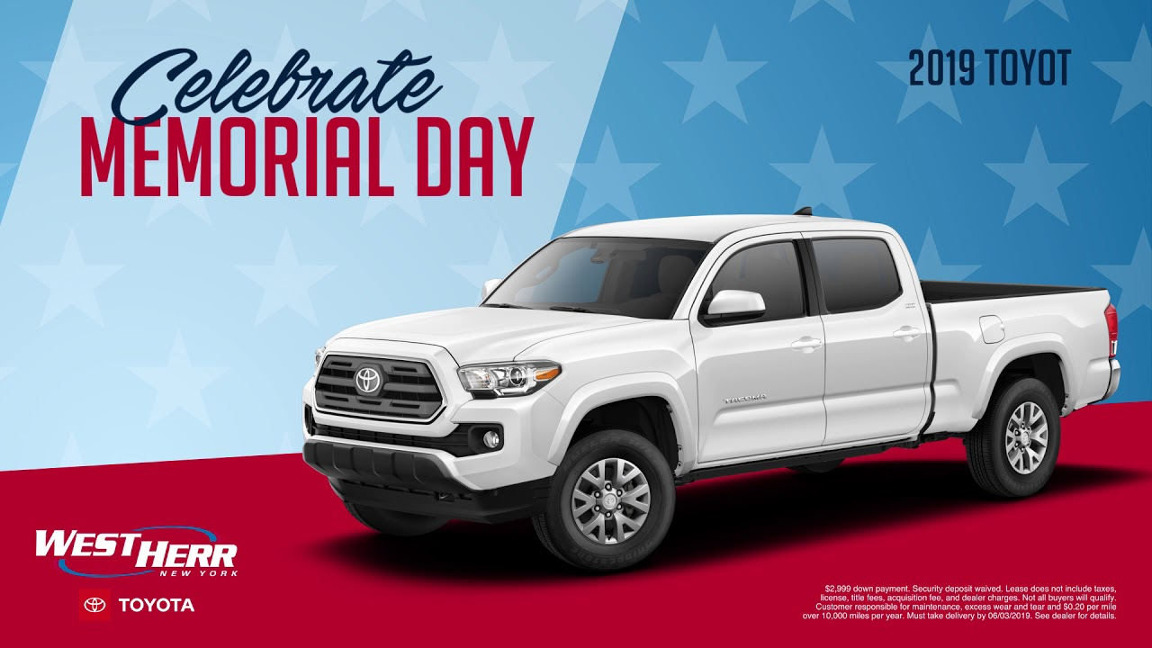 West Herr Toyota >> Memorial Day Deals At West Herr Toyota Of Williamsville Youtube