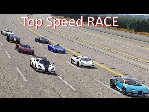 Bugatti Veyron SS, Chiron, Koenigsegg Regera, One:1, Agera, Hennessey Venom Top Speed Race /Assetto