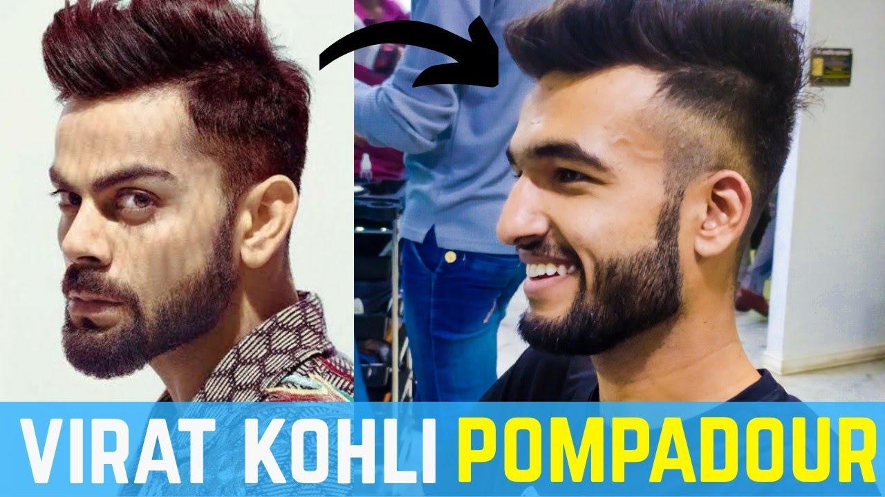 Virat Kohli Pompadour Hairstyle | Best Haircut for 2020 ...