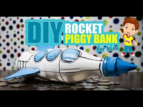 Diy how to make a rocket piggy bank diyindian youtube - Rocket piggy bank ...