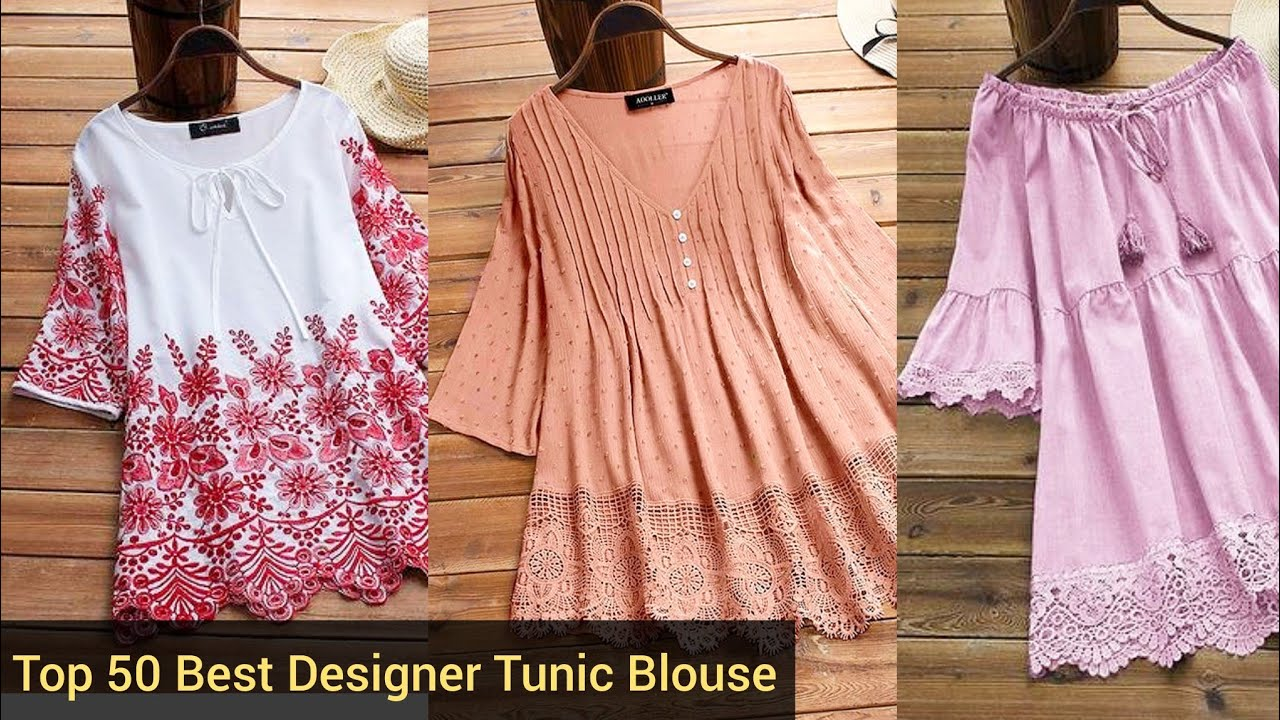 Top 50 Best Collection Of Designer Tunic Blouse Casual Cotton Midi Tunic Outfit For College Girls Youtube