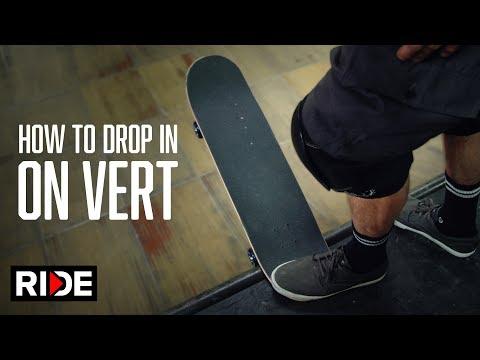 Tony Hawk Teaches How to Drop-In on Vert
