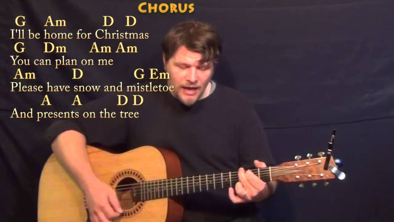 ill be home for christmas strum guitar cover lesson in g with chordslyrics - I Will Be Home For Christmas