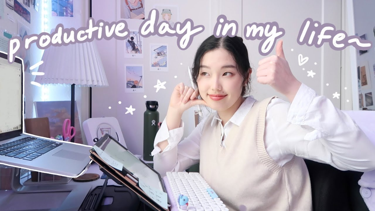 a typical day in my life vlog: get (kinda) productive with me :D