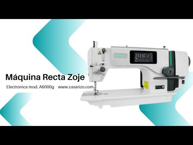 Máquina Recta electrónica  Zoje A6000g :: Casa Rizo