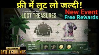 Lost Treasures | Pubg Mobile New Event | Free G Point And Get Free Outfits | Senhok New Map